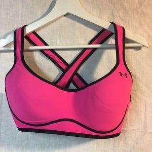 Under Armour sports bra pink